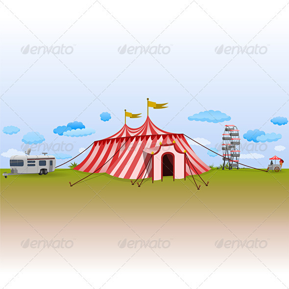 Amusement Park with Circus - Seasons/Holidays Conceptual