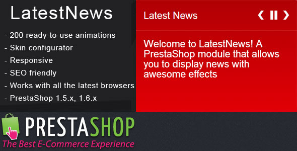 PrestaShop Latest News Module with Amazing Effects - CodeCanyon Item for Sale