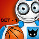White and Blue Robot - Set 1 - GraphicRiver Item for Sale