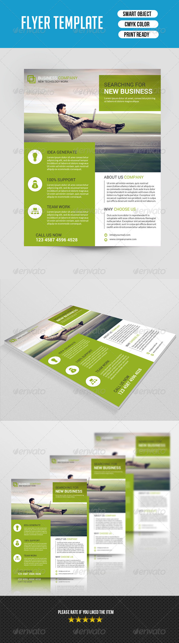 Business Flyer Template-V50 - Corporate Flyers