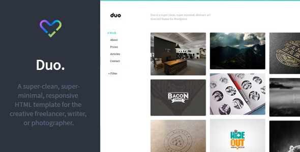 Duo – Unique Minimal Responsive HTML Template