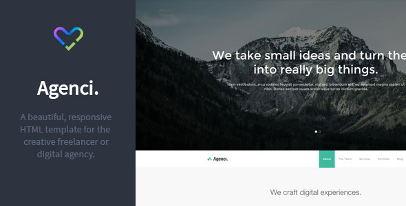 Agenci – One Page Responsive HTML Template