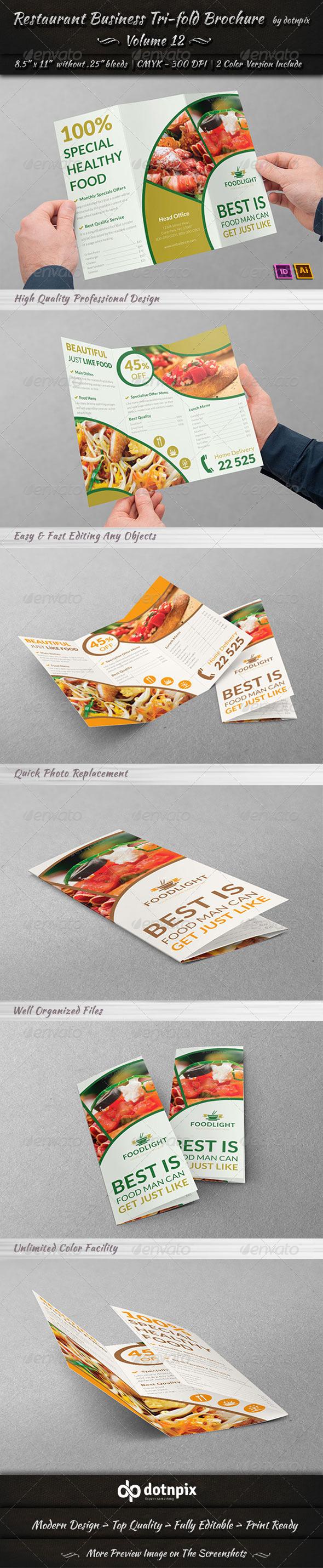Restaurant Business Tri-Fold Brochure | Volume 12 - Corporate Brochures