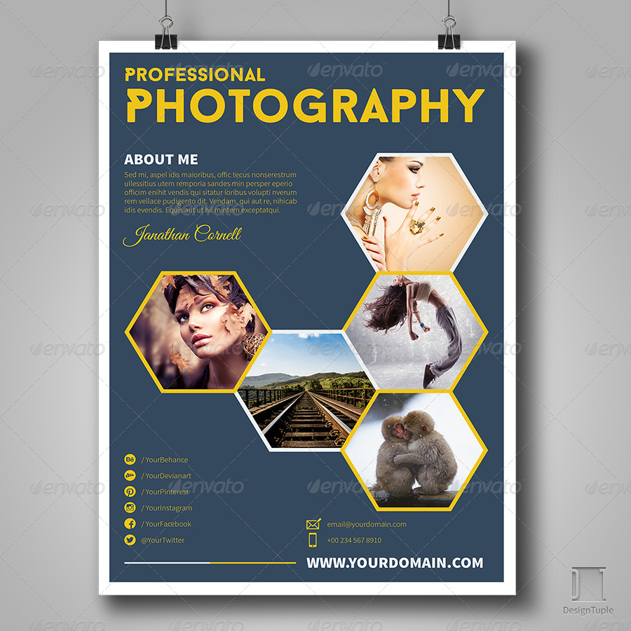 Get Minimal Photography Ad Template By AUTHENTRICK GraphicRiver - Photography ad template