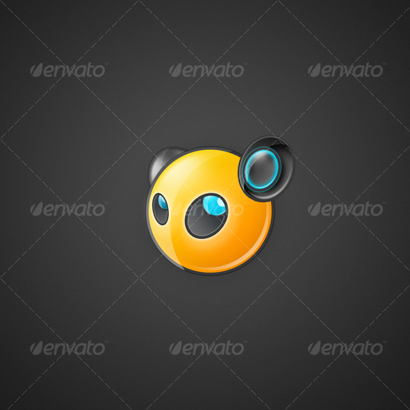 Yellow Speaker Head - Characters Illustrations
