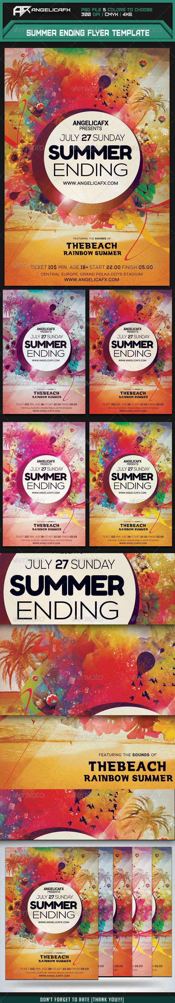 Summer Ending Flyer Template