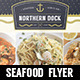 Seafood Restaurant Menu Flyer - GraphicRiver Item for Sale