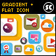 Modern Gradient Flat Icons - GraphicRiver Item for Sale