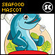 Prawn and Fish Mascot Illustration - GraphicRiver Item for Sale