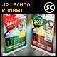 Kindergarten Junior School Banner - GraphicRiver Item for Sale