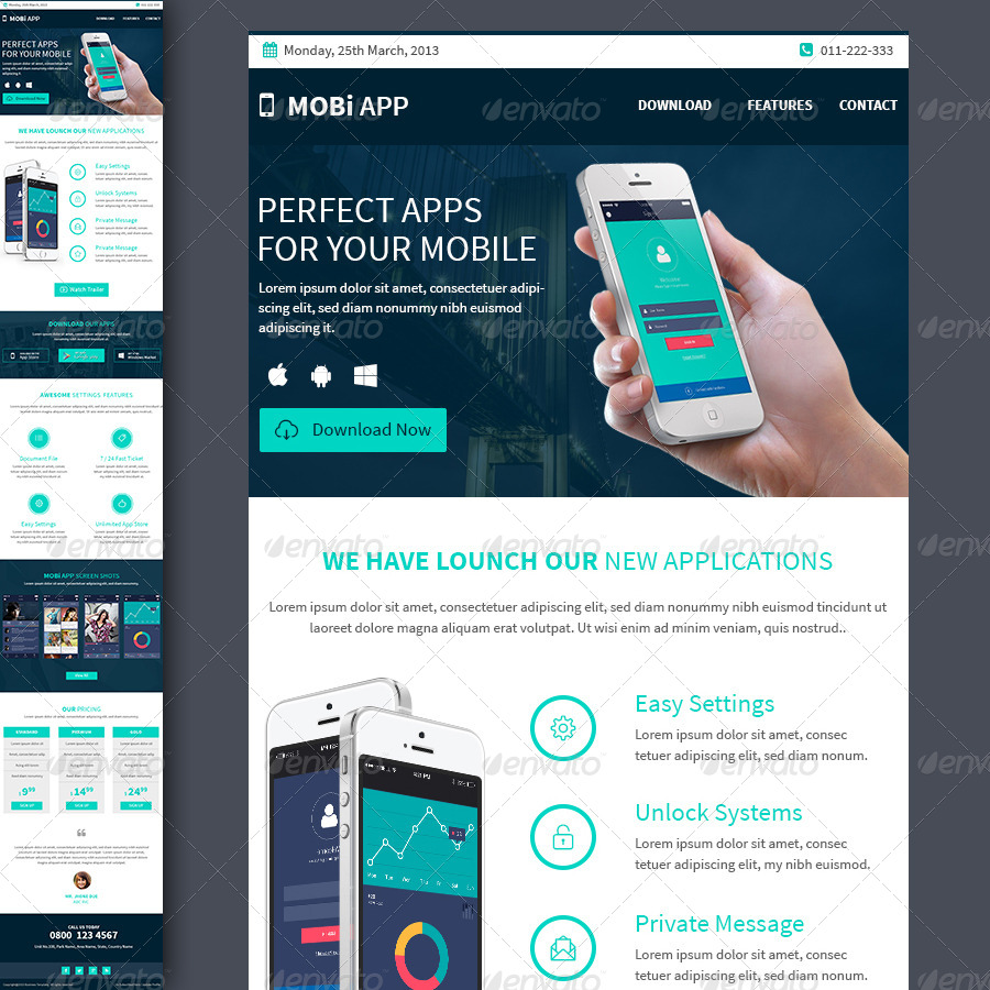 Mobile apps multipurpose e newsletter template by kalanidhithemes template e newsletters web elements preview01businessemailtemplategreeng preview02businessemailtemplategreenoptional flashek Image collections