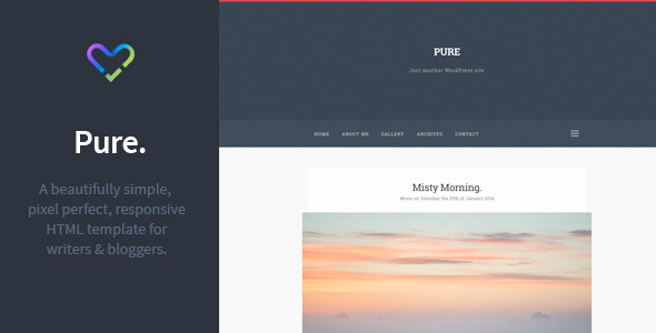 Pure – Responsive Blogging HTML Template.