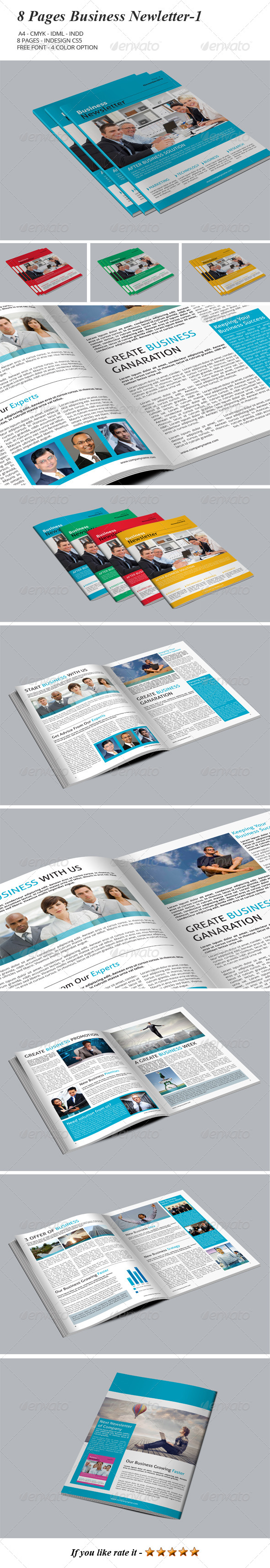8 Pages Business Newsletter-1 - Newsletters Print Templates