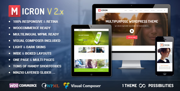 Micron - Retina Responsive Multi-Purpose Theme - Corporate WordPress