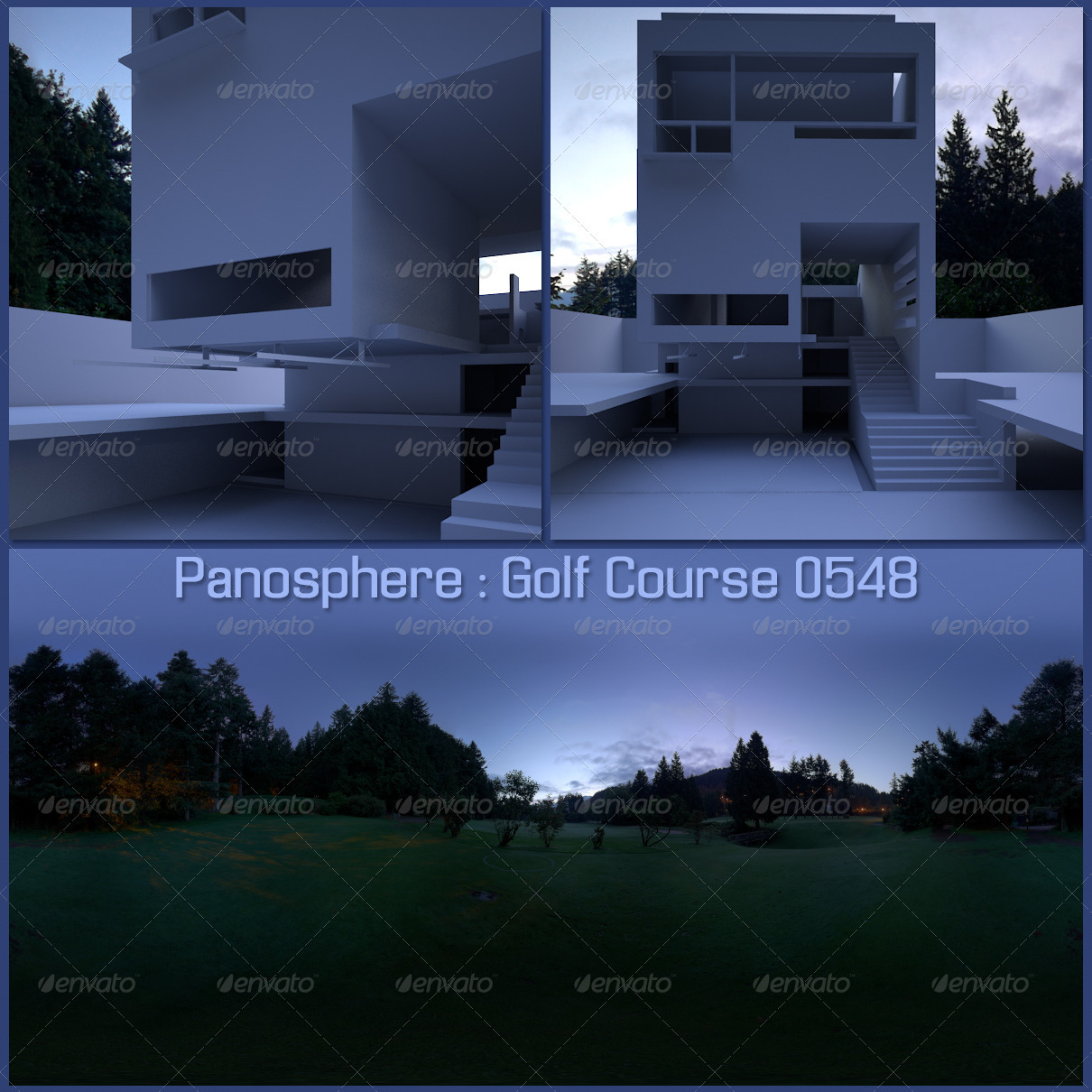 Panosphere HDRI -_- Golf Course 0548