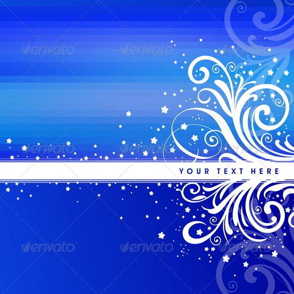 Blue Ornate Christmas Background - Backgrounds Decorative