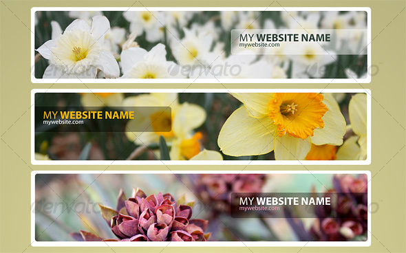 Web Headers Flower Pack - Sliders & Features Web Elements
