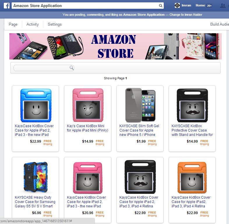 Facebook Amazon Store Application