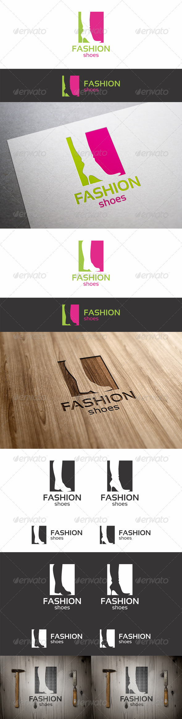 Fashion Shoes Logo for Mens and Womens - Vector Abstract