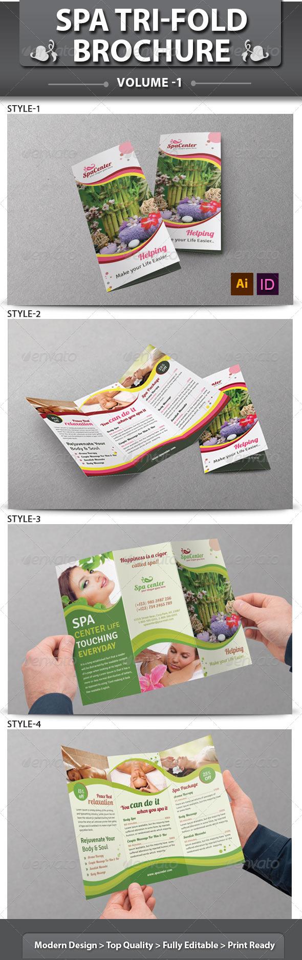 Spa & Beauty Saloon Tri-fold Brochure | Volume 14 - Corporate Brochures
