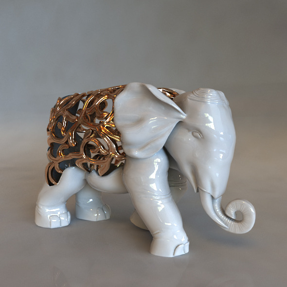 High-Poly Elephant Displays - 3DOcean Item for Sale