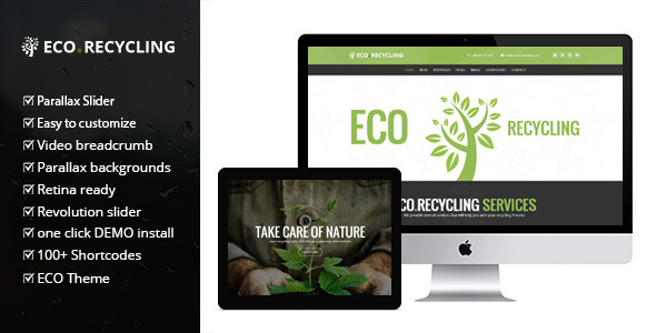 Eco Recycling – A Multipurpose Nature & Ecology WordPress Theme
