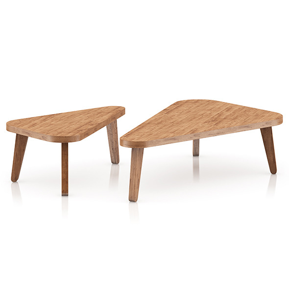 Two Triangle Coffee Tables - 3DOcean Item for Sale