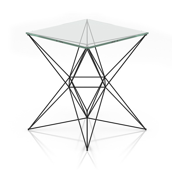 Modern Glass Table - 3DOcean Item for Sale