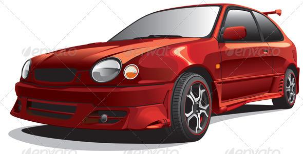 Drag Car No1 - Objects Vectors