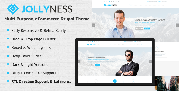 Jollyness - Multi Purpose, eCommerce Drupal Theme - Drupal CMS Themes