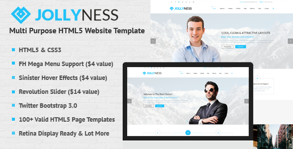 Jollyness – Multi Purpose HTML5 Website Template