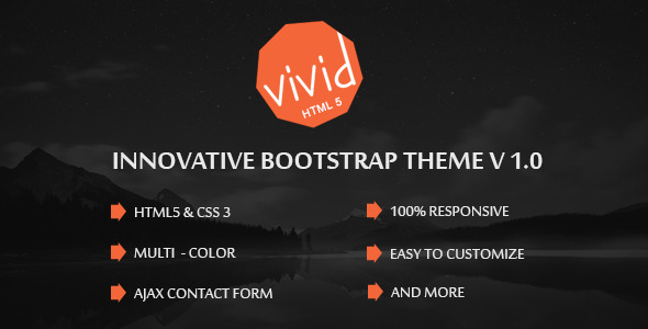 Vivid | Bootstrap Parallax HTML Template