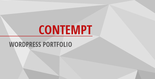 Contempt - WordPress Portfolio - CodeCanyon Item for Sale