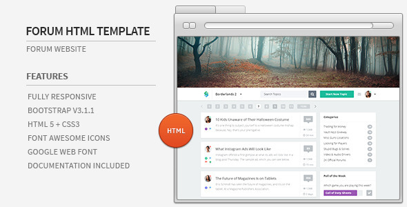 Forum Website HTML Template