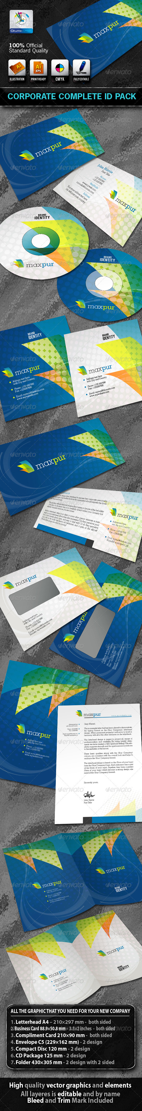 MaxPur Business Corporate ID Pack With Logo - Stationery Print Templates