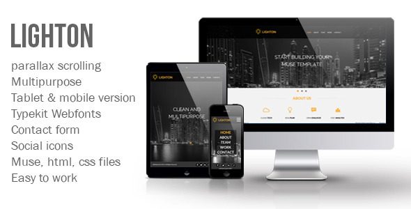 Lighton Muse Template - Muse Templates