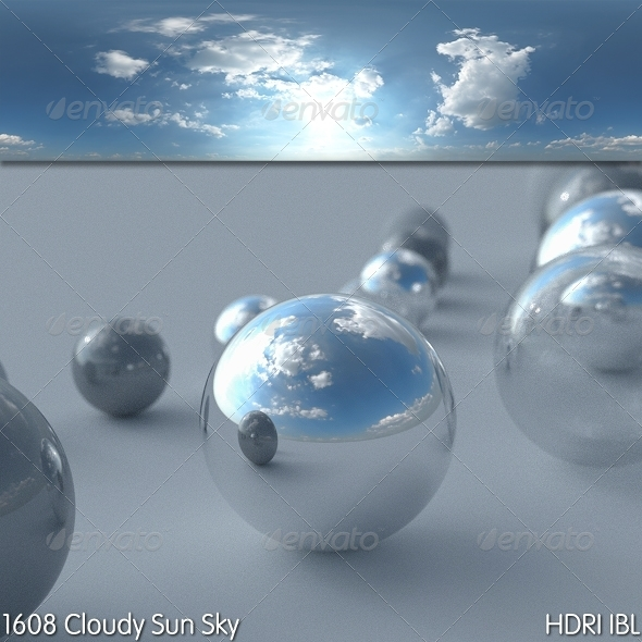 HDRI IBL 1608 Cloudy Sun - 3DOcean Item for Sale