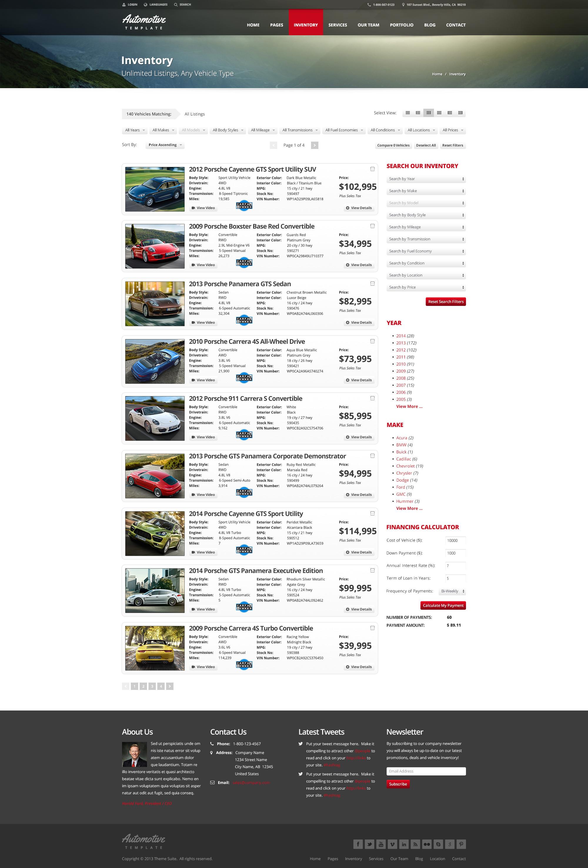 Automotive Car Dealership & Business HTML Template by themesuite ...