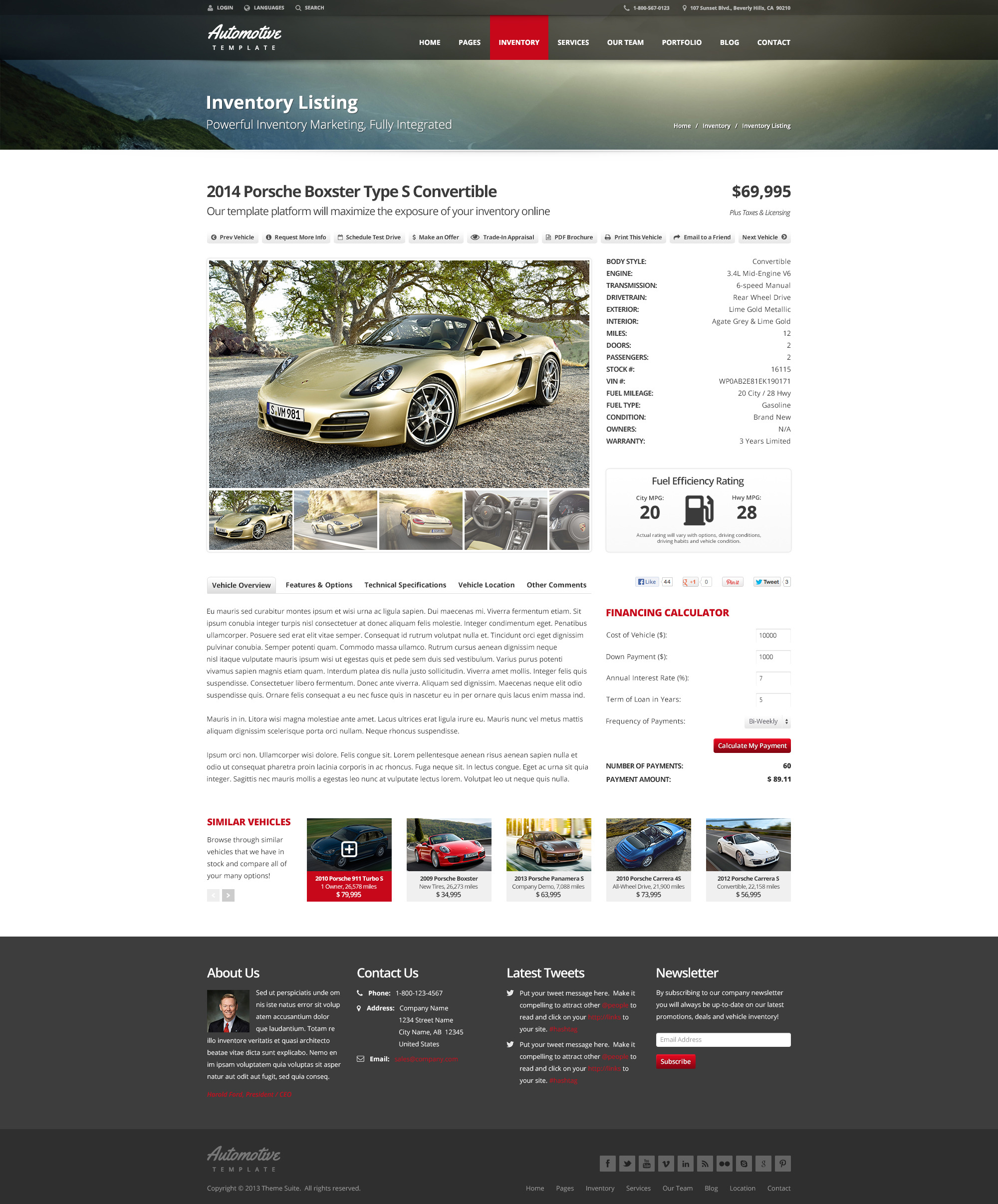 Automotive car dealership business html template