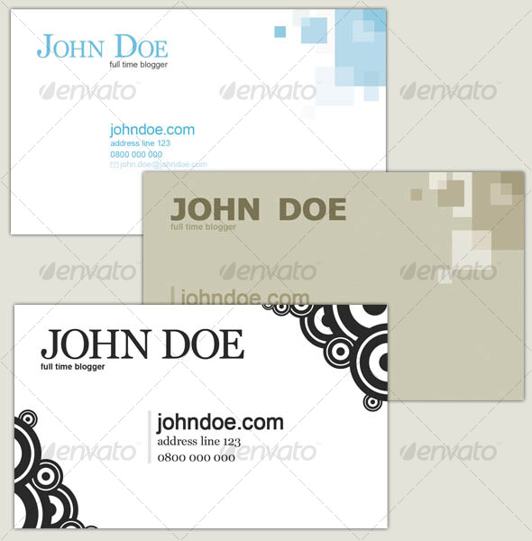 3 Business Cards Set - Corporate Business Cards