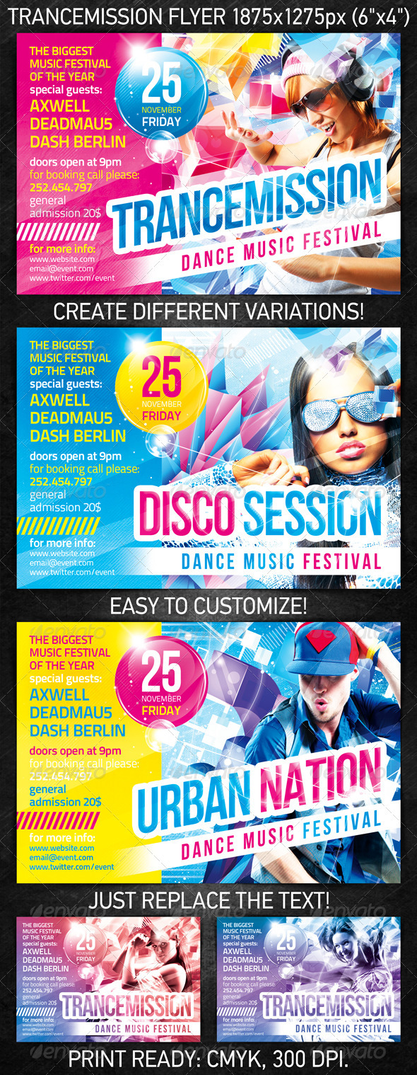 Trancemission Party Flyer - Clubs & Parties Events
