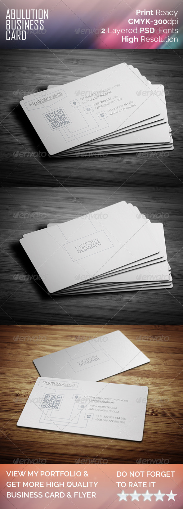 Abulution Business Card - Corporate Business Cards