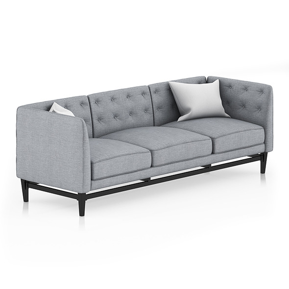 Grey Sofa with Pillows 2 - 3DOcean Item for Sale