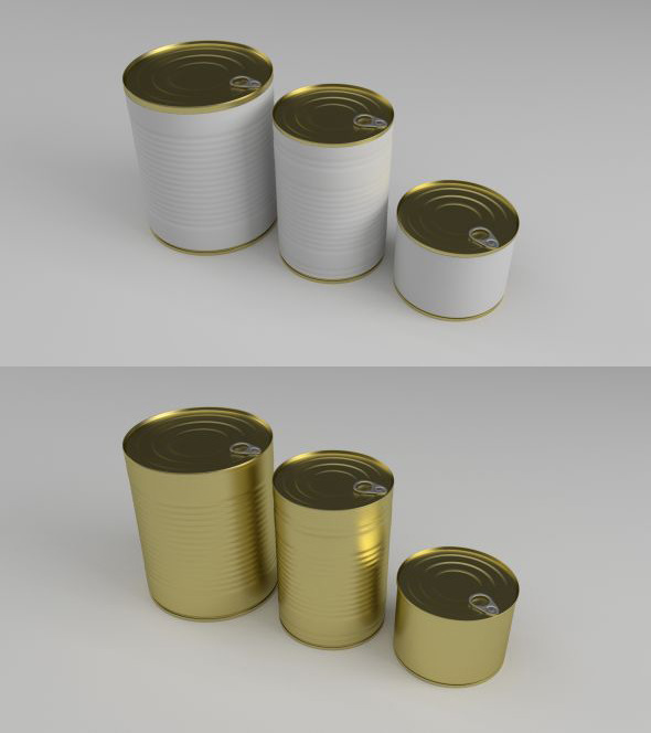 Cans - 3DOcean Item for Sale