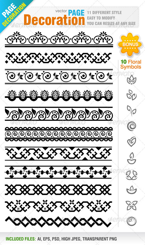Page Decoration - Decorative Vectors