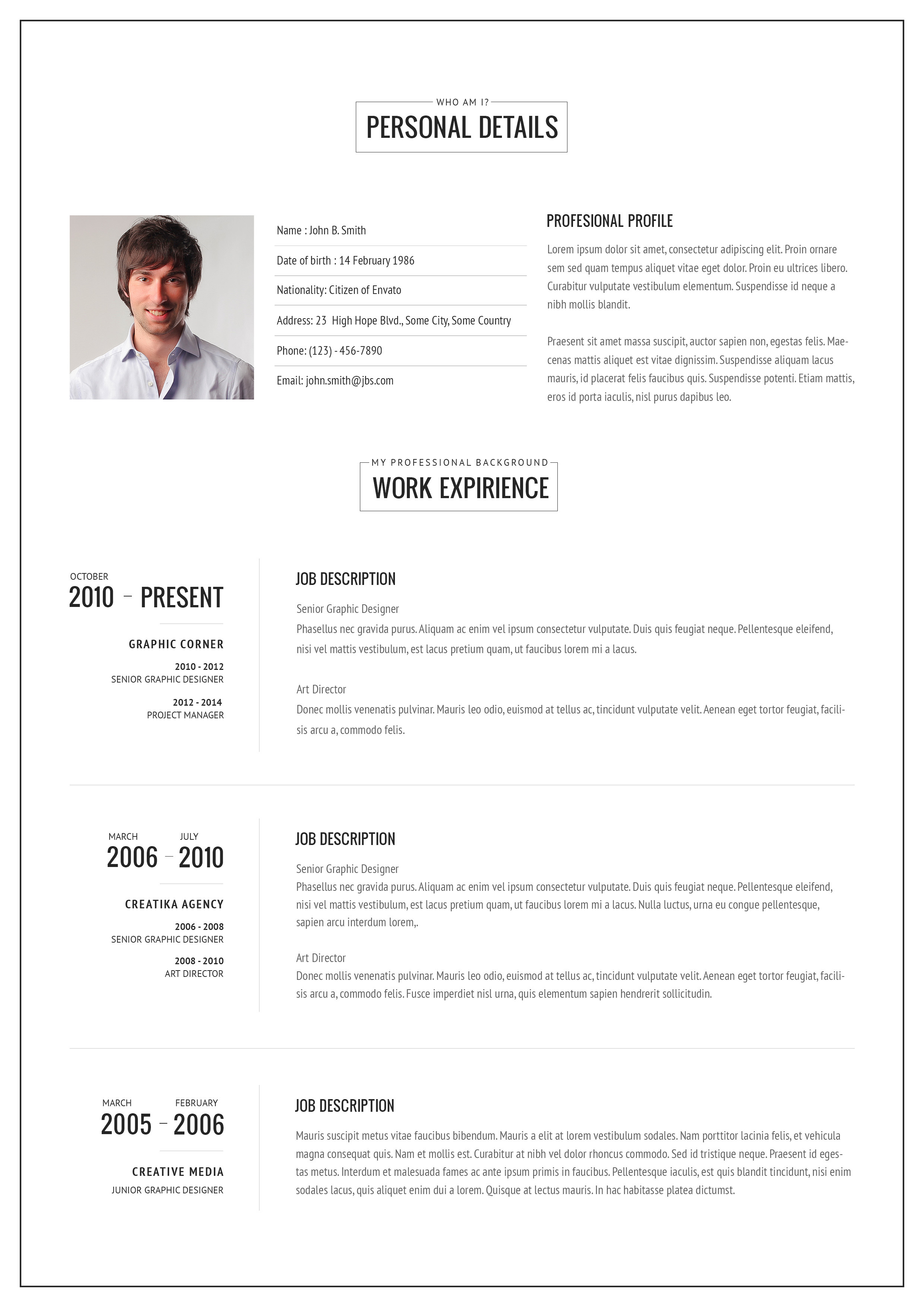One page resume template one page resume examples yelopaper Choice Image