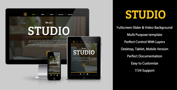 Studio – Multipurpose Muse Template