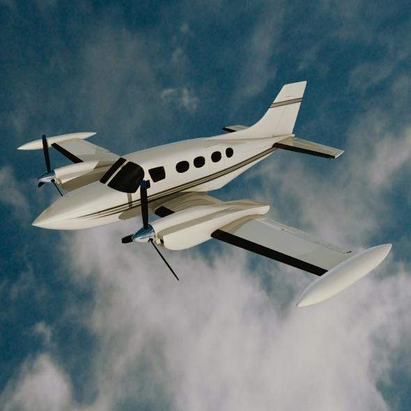 Cessna 421 Golden eagle propeller aircraft - 3DOcean Item for Sale