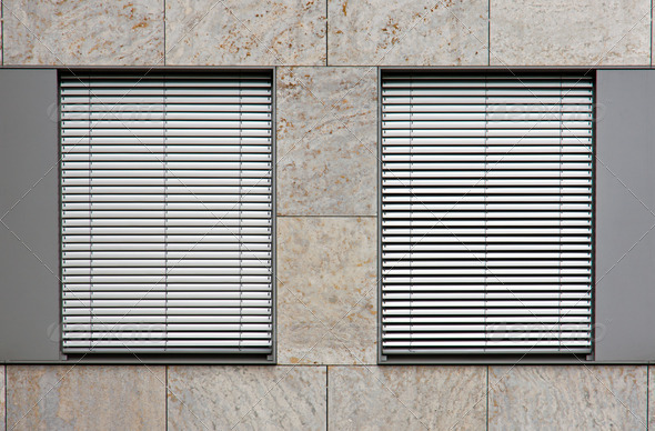 Two windows with shutters - Stock Photo - Images