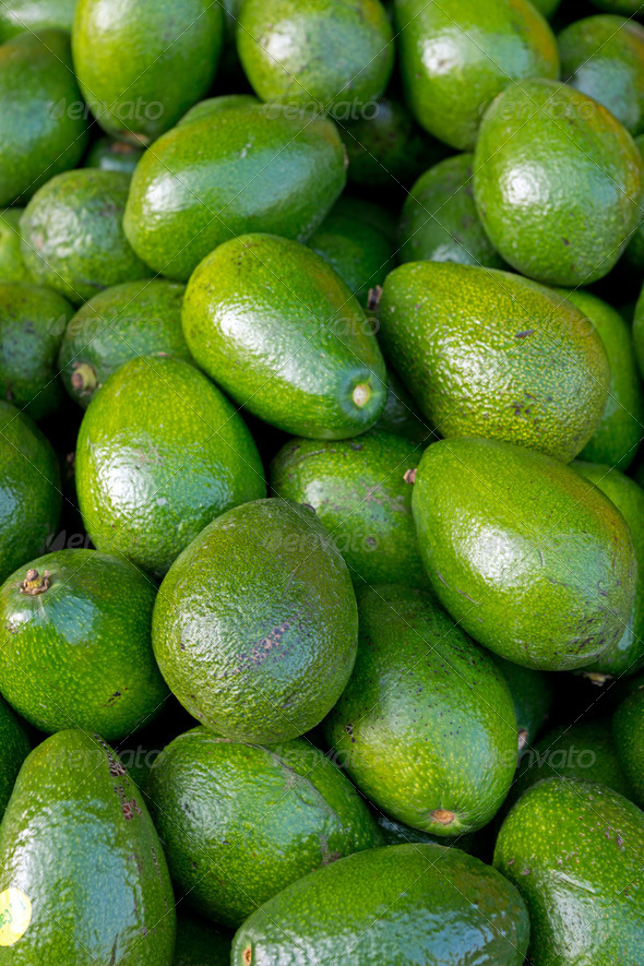 Avocados on a market - Stock Photo - Images